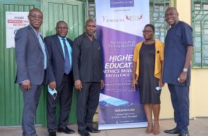 A group photograph of the facilitators of the seminar and the President of E. P. University College, Prof. Edem Kwasi Bakah